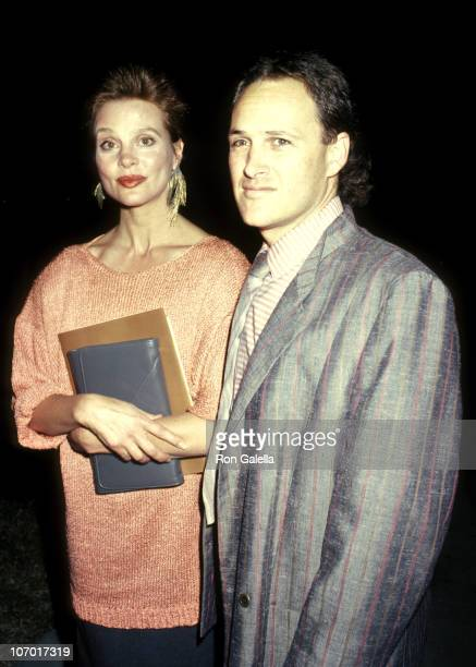 Leigh Taylor Young and BF Dr Mark Holmes during Samaritan Premiere May 1 1986 at Academy Theatre in Beverly Hills California United States