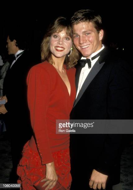 Leigh Taylor Young and Son Patrick O'Neal during International Integrity Awards October 23 1987 at Beverly Hilton Hotel in Beverly Hills California...