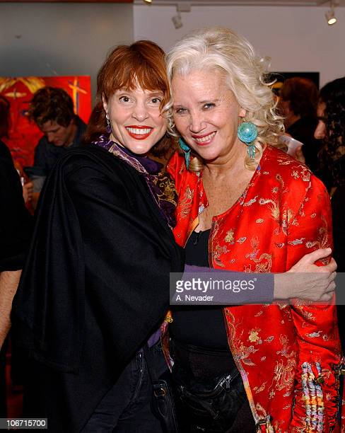 Leigh TaylorYoung and Sally Kirkland during Sally Kirkland's OneWoman Art Show to Benefit The Institute for Individual and World Peace at Risk Press...
