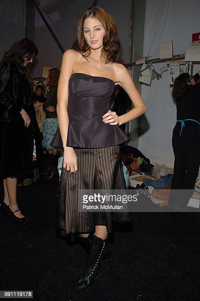 Leigh Yeager attends Jennifer Nicholson Fall 2005 Fashion Show at The Atelier at Bryant Park on February 8 2005 in New York City
