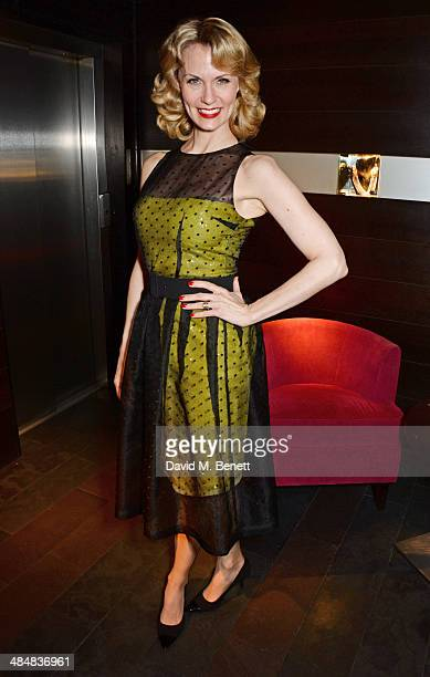 Leigh Zimmerman attends an after party celebrating the press night performance of Relative Values at Mint Leaf restaurant on April 14 2014 in London...