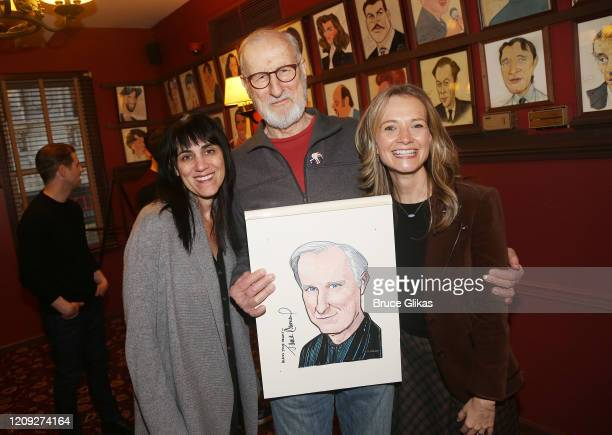 Leigh Zimmerman James Cromwell and Bess Wohl pose as Sardis honors James Cromwell with his caricature for his performance in broadway's Grand...