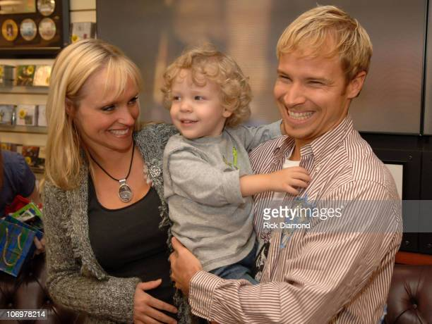 Leighann Littrell Bailey and Brian Littrell during Brian Littrell Release Party for New Album Welcome Home at LifeWay Christian Book Store May 2 2006...