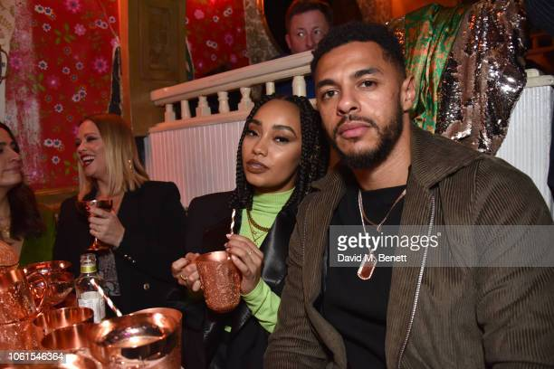 LeighAnne Pinnock and Andre Gray attend Dita Von Teese X Absolut Elyx at The Box on November 14 2018 in London England