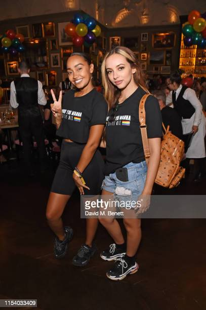 Leigh-Anne Pinnock and Jade Thirlwall attend a pride brunch hosted by House of Holland and The London EDITION in aid of Albert Kennedy Trust at...