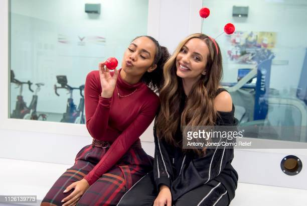 LeighAnne Pinnock and Jade Thirlwall from Little Mix pose during altitude training ahead of a trek up Mount Kilimanjaro in aid of Comic Relief on...