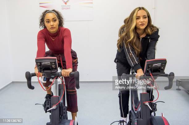 LeighAnne Pinnock and Jade Thirlwall from Little Mix take part in altitude training ahead of a trek up Mount Kilimanjaro in aid of Comic Relief on...
