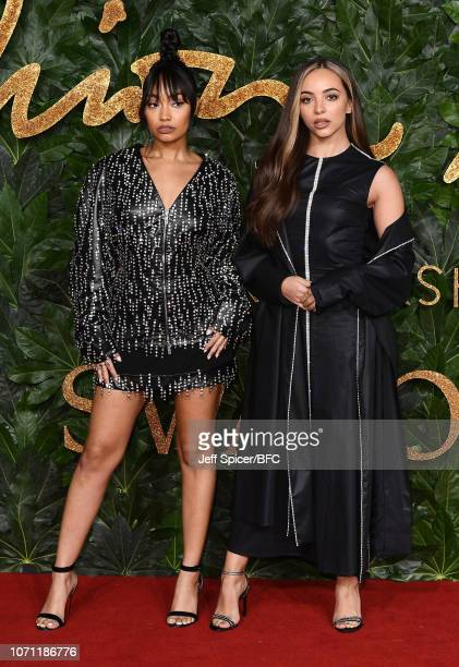 Leigh-Anne Pinnock and Jade Thirlwall of the band Little Mix, arrive at The Fashion Awards 2018 In Partnership With Swarovski at Royal Albert Hall on...