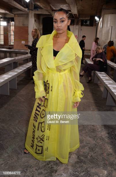 LeighAnne Pinnock attends the House Of Holland front row during London Fashion Week September 2018 at the My Beautiful City Show Space on September...