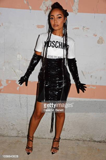 LeighAnne Pinnock attends the Moschino SS19 Show during Milan Fashion Week on September 20 2018 in Milan Italy