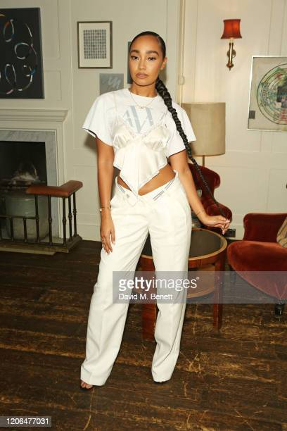 LeighAnne Pinnock attends the #OwnTheTable dinner and panel hosted by Leomie Anderson and Ray BLK at Soho House on March 10 2020 in London England