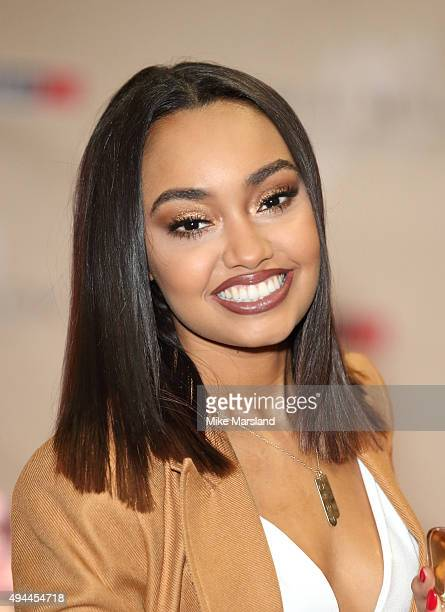 LeighAnne Pinnock from Little Mix attends signing for their new fragrance 'Gold Magic' at Bluewater Shopping Centre on October 27 2015 in Greenhithe...