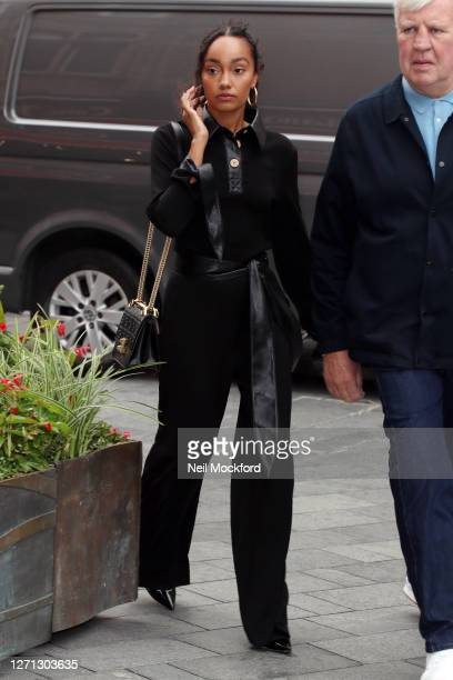 LeighAnne Pinnock from Little Mix seen at Global Radio Studios on September 08 2020 in London England