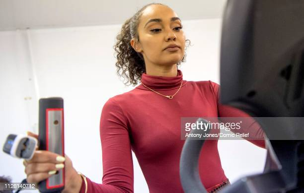 LeighAnne Pinnock from Little Mix takes part in altitude training ahead of a trek up Mount Kilimanjaro in aid of Comic Relief on January 22 2019 in...