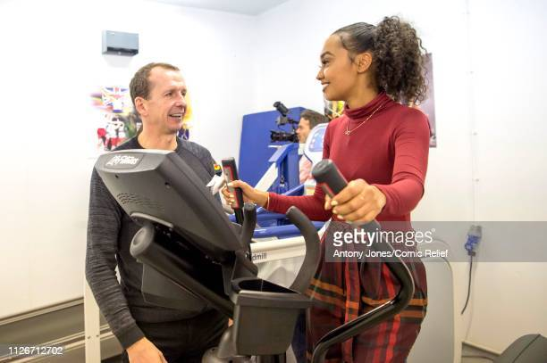 LeighAnne Pinnock from Little Mix takes part in altitude training with Professor Greg Whyte ahead of a trek up Mount Kilimanjaro in aid of Comic...
