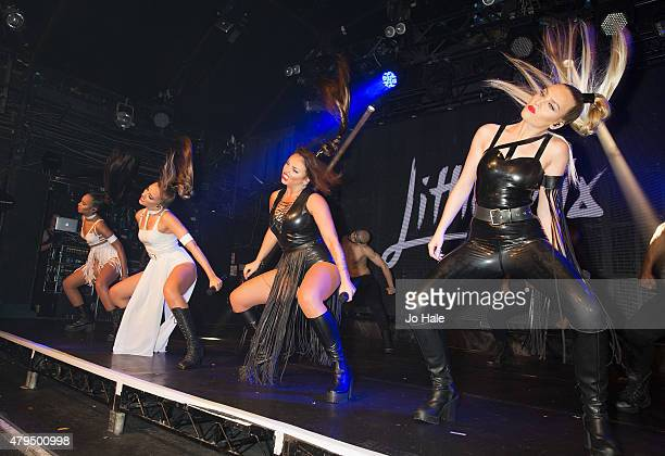 LeighAnne Pinnock Jade Thirlwall Jesy Nelson and Perrie Edwards of Little Mix perform on stage at GAY on July 4 2015 in London England