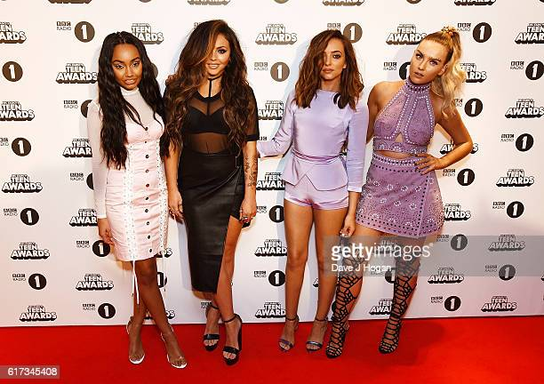 LeighAnne Pinnock Jesy Nelson Jade Thirlwall and Perrie Edwards of Little Mix attend the BBC Radio 1's Teen Awards at SSE Arena Wembley on October 23...