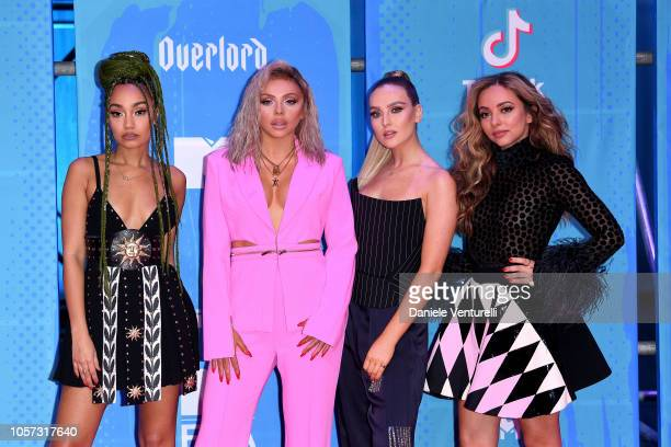 LeighAnne Pinnock Jesy Nelson Perrie Edwards and Jade Thirlwall of Little Mix attend the MTV EMAs 2018 on November 4 2018 in Bilbao Spain