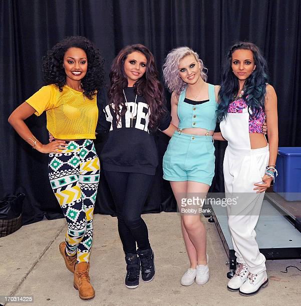 """Leigh-Anne Pinnock, Jesy Nelson, Perrie Edwards and Jade Thirlwall of Little Mix attends the Little Mix """"DNA"""" CD signing and meet and greet at..."""
