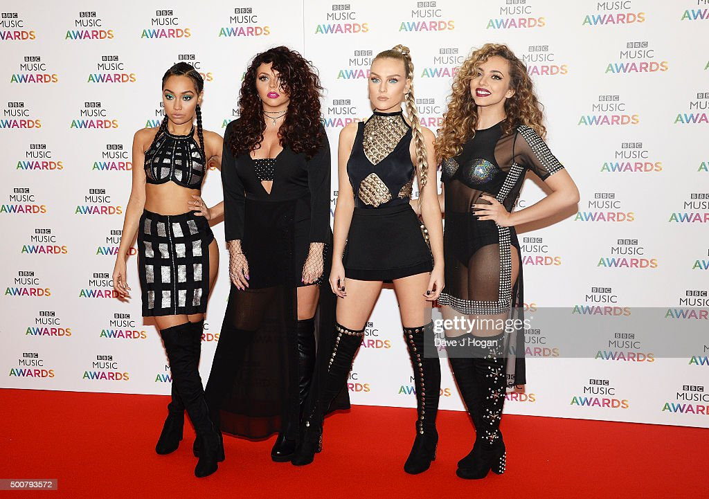 Leigh-Anne Pinnock, Jesy Nelson, Perrie Edwards and Jade Thirlwall of Little Mix attend the BBC Music Awards at Genting Arena on December 10, 2015 in Birmingham, England.