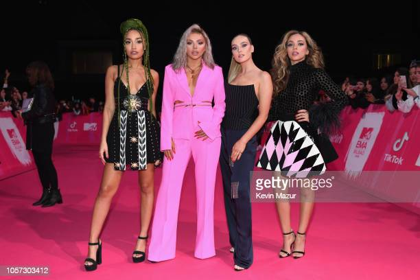 Leigh-Anne Pinnock, Jesy Nelson, Perrie Louise Edwards and Jade Thirlwall of Little Mix attends the MTV EMAs 2018 on November 4, 2018 in Bilbao,...