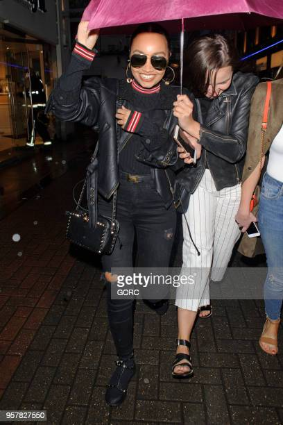 LeighAnne Pinnock leaving Cahoots restaurant in Soho on May 12 2018 in London England