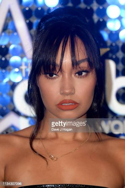 LeighAnne Pinnock of Little Mix arrives at the The Global Awards with Verycouk at Eventim Apollo Hammersmith on March 07 2019 in London England