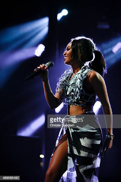 LeighAnne Pinnock of Little Mix performs on stage as part of Apple Music Festival at The Roundhouse on September 22 2015 in London England