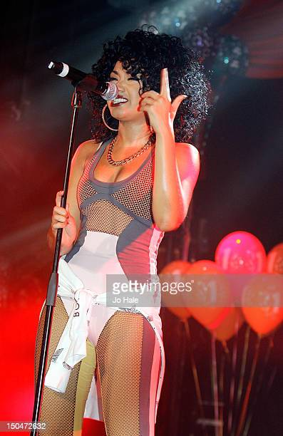 LeighAnne Pinnock of Little Mix performs on stage for GAY night at Heaven on August 18 2012 in London United Kingdom