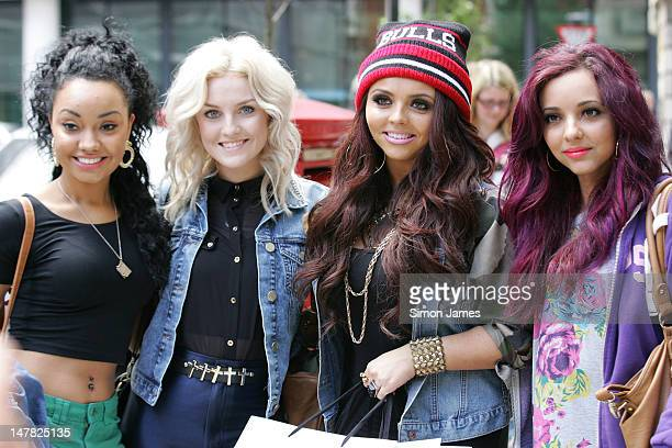 LeighAnne Pinnock Perri Edwards Jesy Nelson and Jade Thirlwall of Little Mix sighted at BBC radio two on July 4 2012 in London England