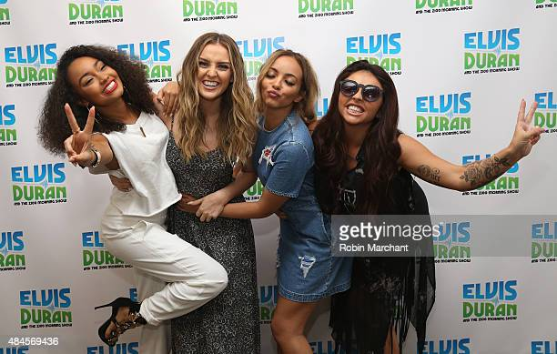 LeighAnne Pinnock Perrie Edwards Jade Thirlwall and Jesy Nelson of Little Mix visit the The Elvis Duran Z100 Morning Show at Z100 Studio on August 20...
