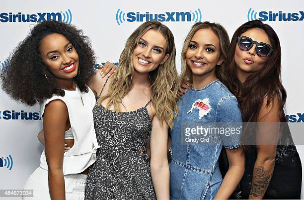 Leigh-Anne Pinnock, Perrie Edwards, Jade Thirlwall and Jesy Nelson of Little Mix visit the SiriusXM Studios on August 20, 2015 in New York City.