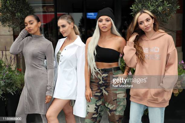 Leigh-Anne Pinnock, Perrie Edwards, Jesy Nelson and Jade Thirlwall from Little Mix seen at Global Radio Studios on June 14, 2019 in London, England.