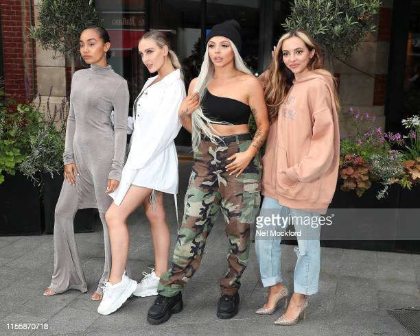 LeighAnne Pinnock Perrie Edwards Jesy Nelson and Jade Thirlwall from Little Mix seen at Global Radio Studios on June 14 2019 in London England