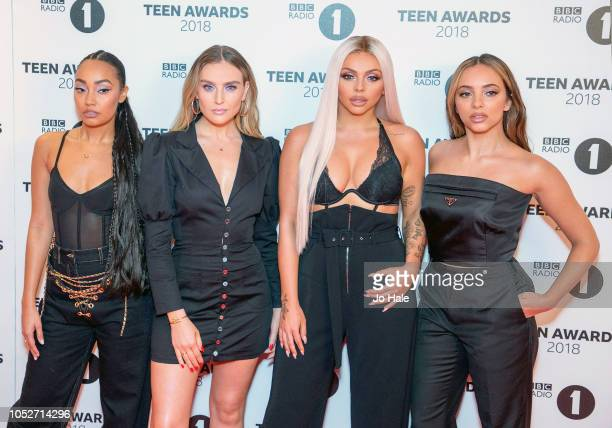LeighAnne Pinnock Perrie Edwards Jesy Nelson and Jade Thirlwall of Little Mix attend the BBC Radio 1 Teen Awards on October 21 2018 in London United...
