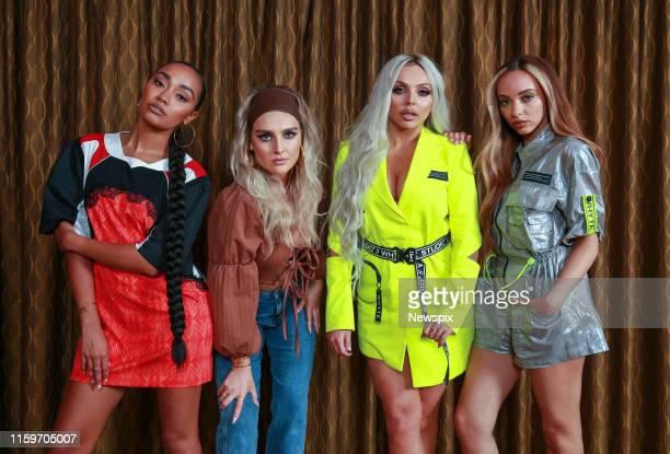 Leigh-Anne Pinnock, Perrie Edwards, Jesy Nelson and Jade Thirlwall of Little Mix pose during a photo shoot in Sydney, New South Wales.