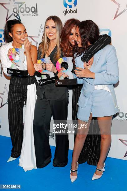 LeighAnne Pinnock Perrie Edwards Jesy Nelson and Jade Thirlwall of Little Mix winners of the Best Group Best British Artist or Group and Best Song...