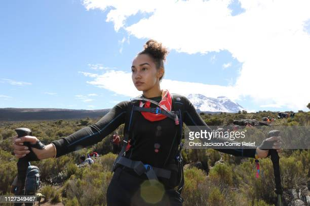 LeighAnne Pinnock poses on day 3 of 'Kilimanjaro The Return' for Red Nose Day on February 25 2019 in Arusha Tanzania All to raise funds for Comic...