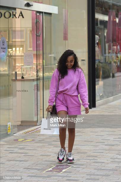 LeighAnne Pinnock seen shopping at Pandora in the Lexicon Centre Bracknell on July 10 2020 in Bracknell England
