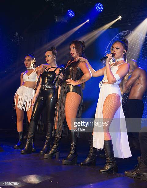LeighAnne PinnockPerrie EdwardsJesy Nelson and Jade Thirlwall of Little Mix perform on stage at GAY Heaven on July 4 2015 in London England