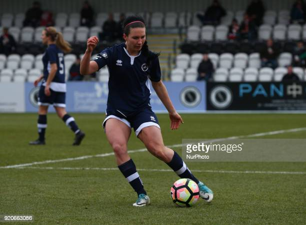 Leighanne Robe of Millwall Lionesses L during The FA Women's Cup Fifth Round match between Arsenal against Millwall Lionesses at Meadow Park...