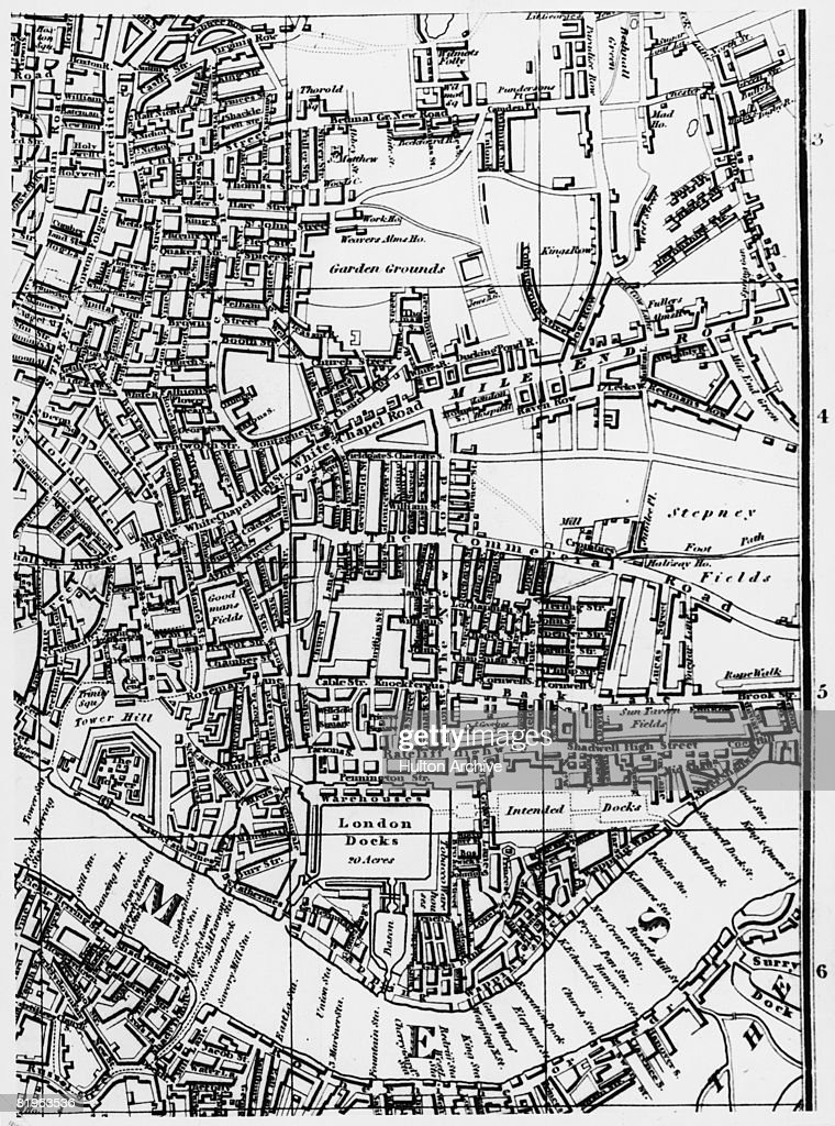 Shoreditch Map: Leigh's Map Of London, Showing The Shoreditch, Whitechapel