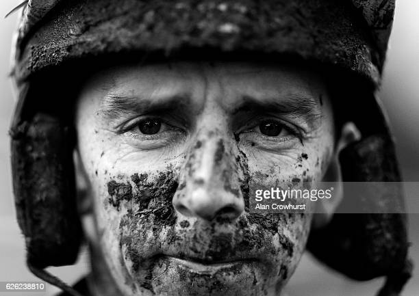 Leighton Aspell after riding Surtee Du Berlais to win The OLBG Mares' Hurdle Race at Kempton Park on November 21 2016 in Sunbury England