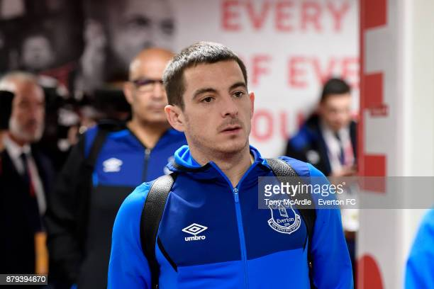 Leighton Baines arrives before the Premier League match between Southampton and Everton at St Mary's Stadium on November 26 2017 in Southampton...