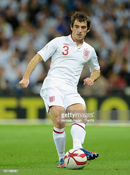 Leighton Baines of England in action during the FIFA 2014 World Cup qualifier group H match between England and Ukraine at Wembley Stadium on...