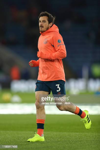 Leighton Baines of Everton during the Premier League match between Leicester City and Everton FC at The King Power Stadium on December 1 2019 in...