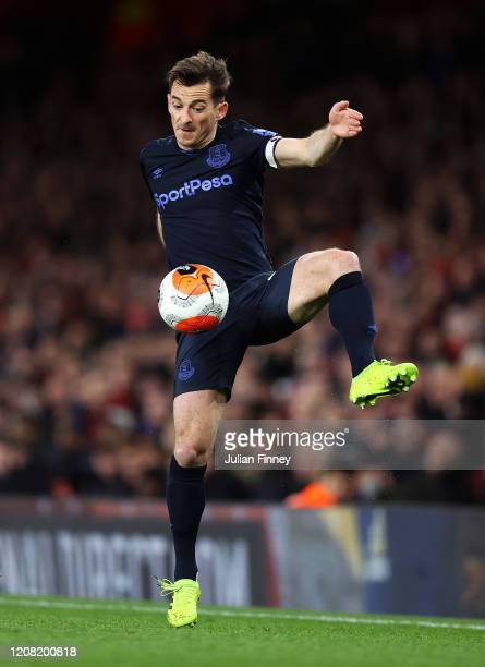 Leighton Baines of Everton during the Premier League match between Arsenal FC and Everton FC at Emirates Stadium on February 23 2020 in London United...