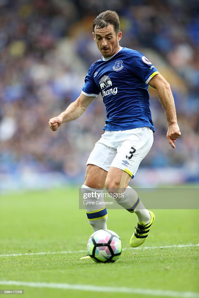Leighton Baines of Everton during the Premier League match between Everton and Stoke City at Goodison Park on August 27, 2016 in Liverpool, England.