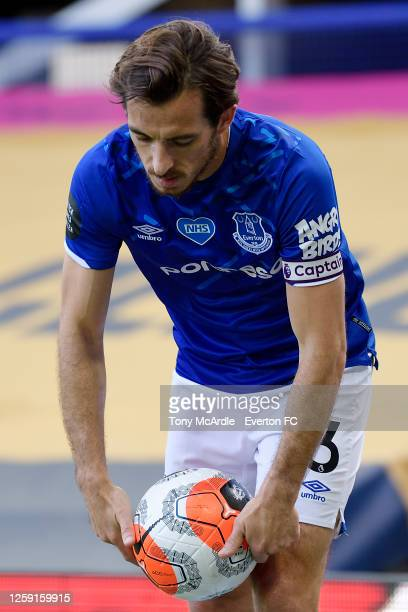 Leighton Baines of Everton during the Premier League match Everton and AFC Bournemouth at Goodison Park on July 26 2020 in Liverpool England