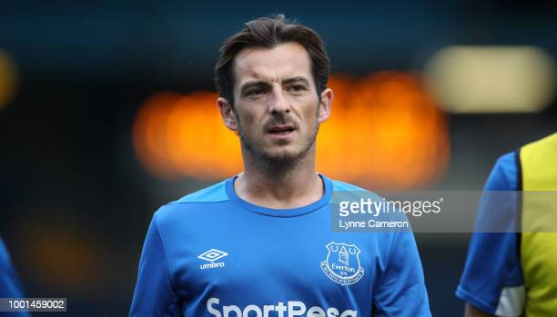 Leighton Baines of Everton during the PreSeason Friendly at Gigg Lane on July 18 2018 in Bury England